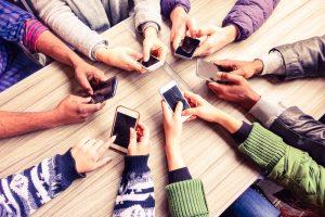 iedereen op smartphones